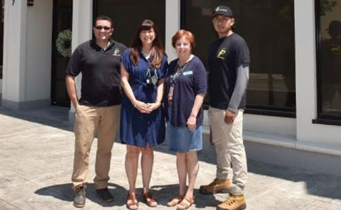 From left are PPS President Favio Ulloa; Debbie Provencher and Jackie from Lighthouse Pregnancy Resource Center; and PPS service technician Derek Palacios. PHOTO: PRESTIGE PEST SERVICES