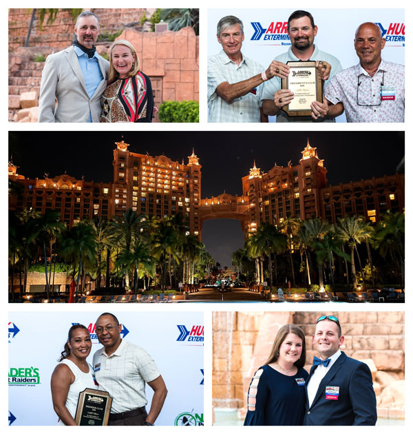 Moments captured from Arrow's recent top performers recognition trip in the Bahamas. PHOTO: ARROW EXTERMINATORS
